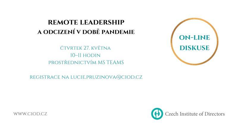 ON-LINE diskuse: Remote Leadership